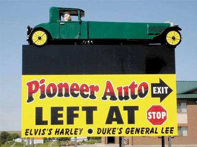 Pioneer Auto Sign